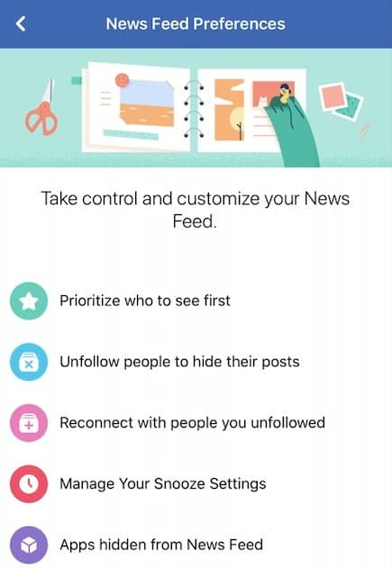 Take control of social media by organizing the newsfeed