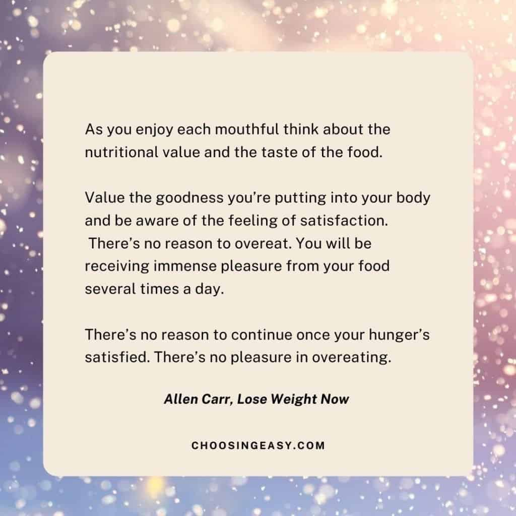 Allen Carr Lose Weight Now Quote