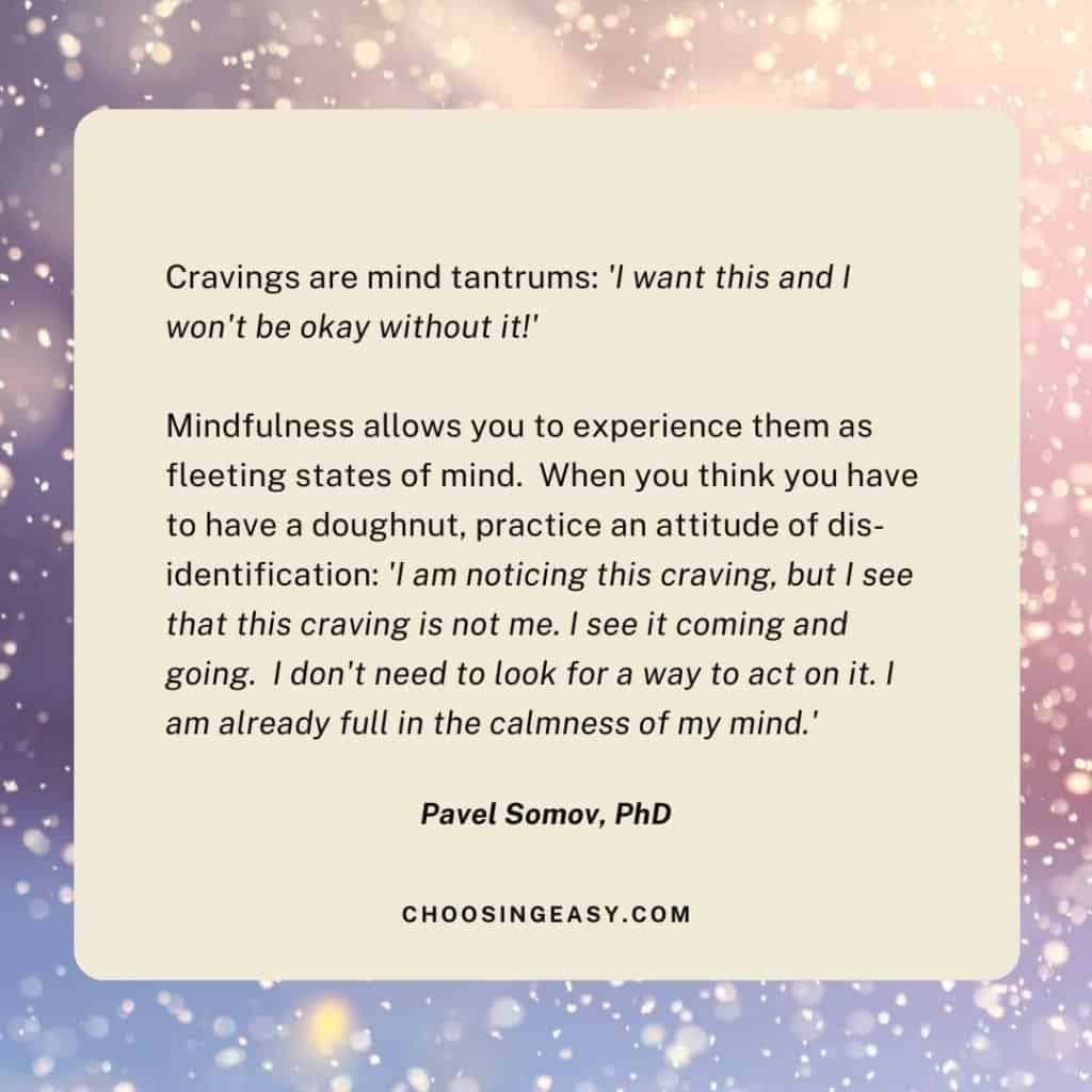 Mindfulness eating Pavel Somov Quote