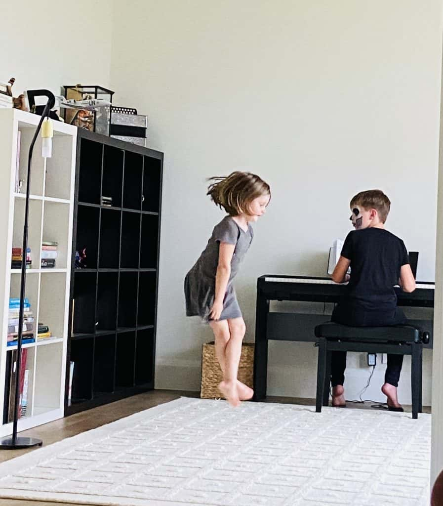 boy playing piano, girl dancing, the meaning of success
